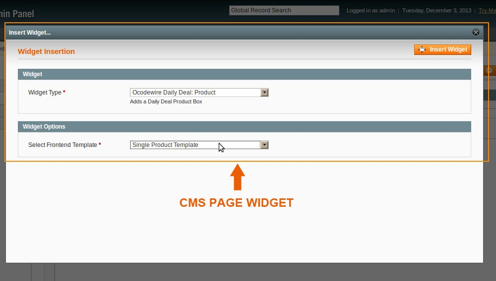 Daily Deal CMS Page Widget
